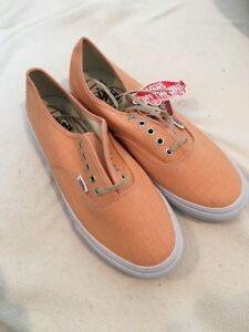 0e7779b7ec Image is loading Vans-AUTHENTIC-SLIM-Shoes-Chambray-Coral-True-White-