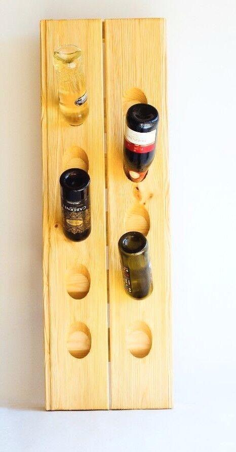 En bois DEVINETTE casier à vin, bar, décoration d'intérieur en bois massif pour 10 Bouteille