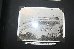 CLOVELLY-HARBOUR-1920S-photograph-each-80-by-100mm-not-postcard-B