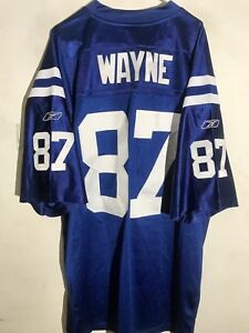 buy popular ddb8f 1ca55 Details about Reebok Authentic NFL Jersey Indianapolis Colts Reggie Wayne  Blue sz 58