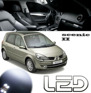 SCENIC-2-Pack-16-ampoules-LED-Blanc-Habitacle-Plafonnier-Miroir-bas-porte-Coffre