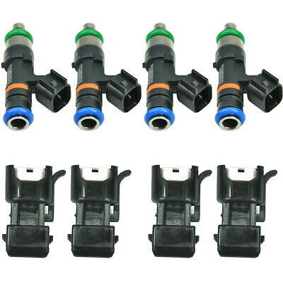 4 Genuine Bosch 0280158117 EV14 EV6 550cc Fuel Injector USCAR Factory Flow Match