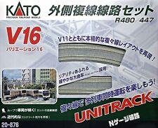 KATO KAT20876 N V16 Double Track Outer Loop Set Concrete
