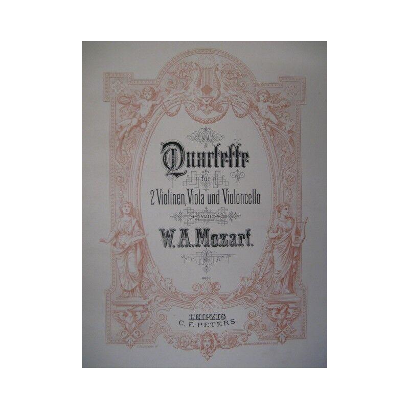 MOZART Wolfgang Amadeus Quatuors Intégrale Violon Alto Violoncelle partition she