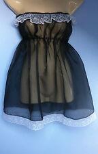 black organza dress adult baby fancy dress sissy french  maid cosplay fit 36-52