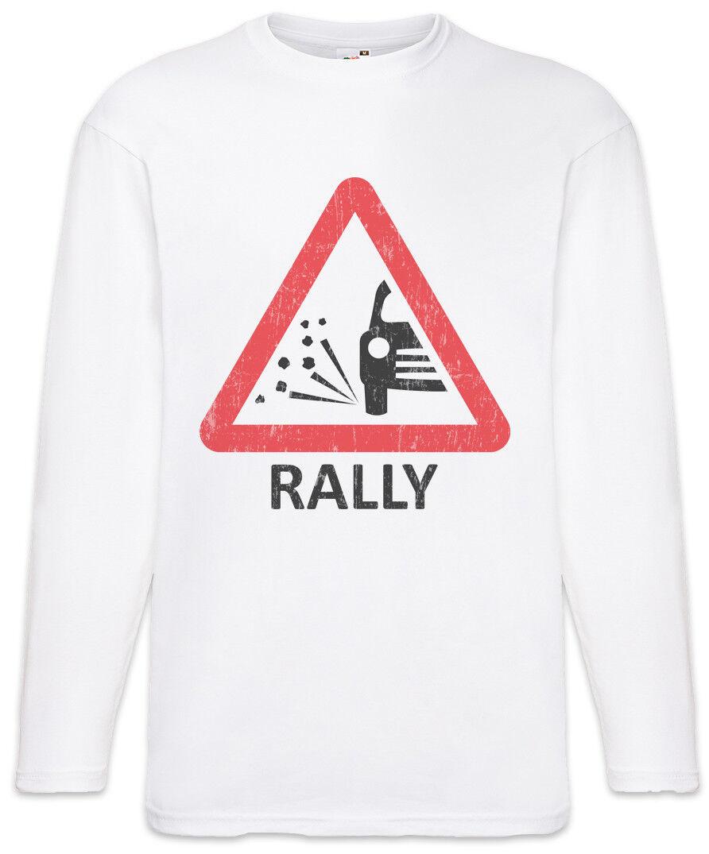Rally Sign Men Long Sleeve T-Shirt Racing Car Driver Racer Petrol Head Fun