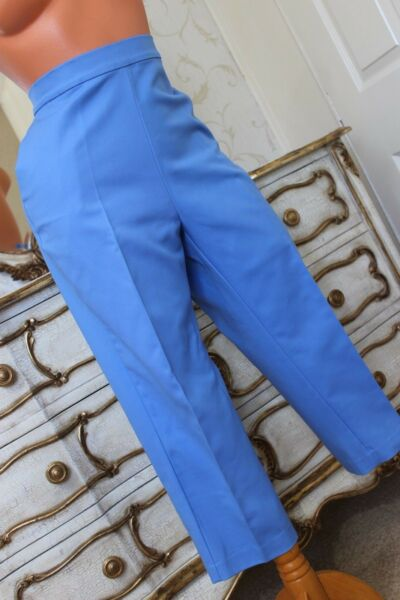 (ref1) Fiordaliso Marks & Spencer Cotone & Elastan Donna 3/4 Pantaloni Taglia 16