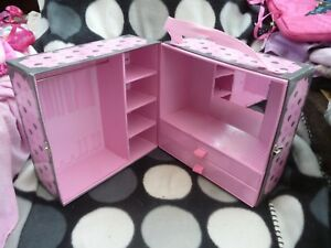 Chad-Valley-DESIGN-A-FRIEND-Doll-FOLD-OUT-Large-WARDROBE-Carry-CASE