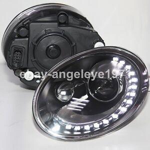 year  vw beetle led headlights bi xenon projector lens lights ld ebay