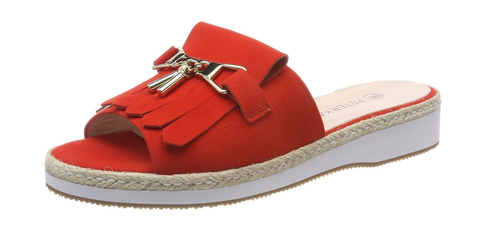 Women's Peter Kaiser Riara Red Suede Open Toe Sandals UK 8.5 EU 42.5