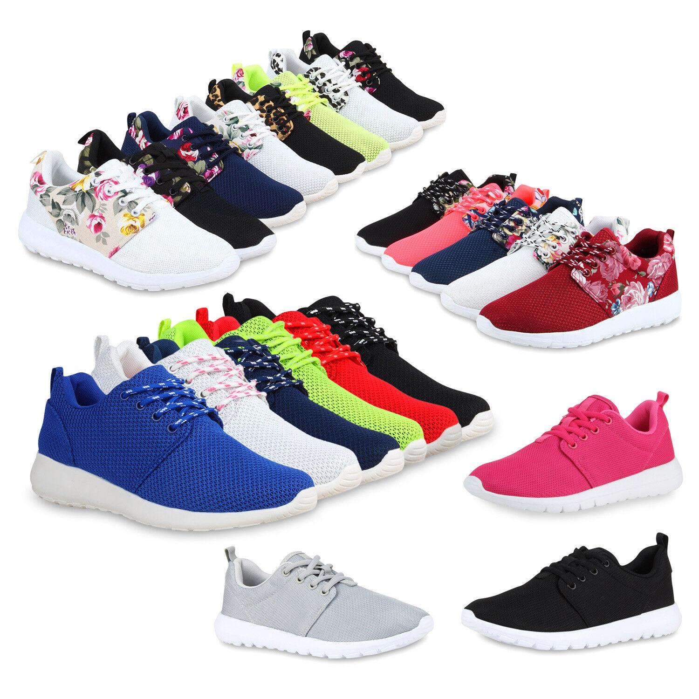 Damen Sport Zapatos Zapatos  Blumen Print Runners Lauf Zapatos Zapatos  74679 Top f0e808