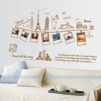 DIY Removable PVC Art Quote photo Wall Sticker Decal Mural Home Room Decor