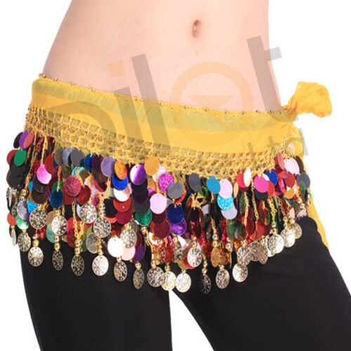 Belly Dance Hip Scarf Costume Veil Belly Dance Hip Scarf Belt DE