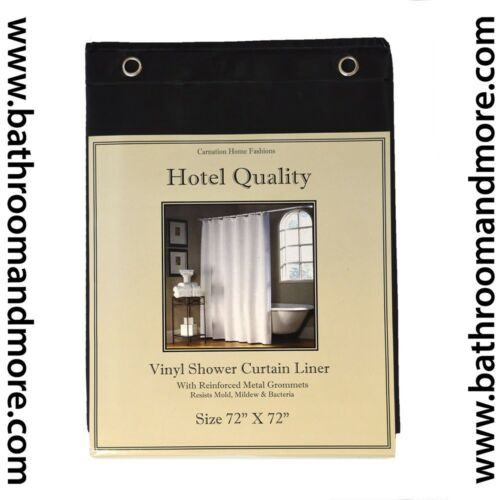 "72/"" x 72/"" 4 Colors Heavy Weight Hotel Quality 8-gauge Vinyl  Shower Liner"