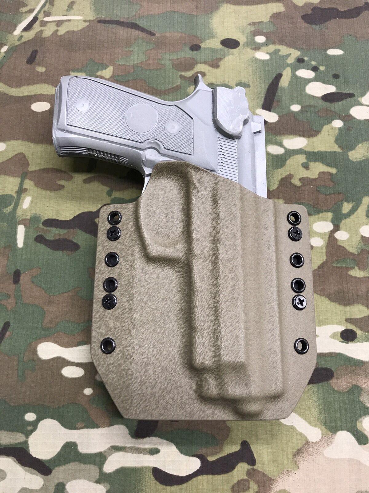 FDE Kydex Holster for Beretta 92FS Vertec (M9A1)