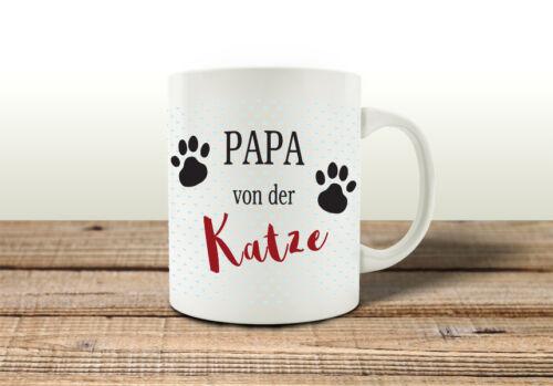 Tasse De Café Tasse Papa de la chat males Homme Cadeau Animal de compagnie Gobelet