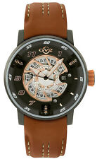 Gv2 By Gevril Men's Motorcycle Sport 1305 Automatic Black Dial Leather Watch