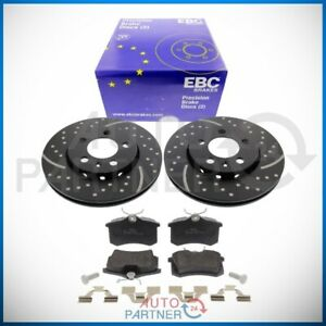 EBC-for-VW-Golf-4-R32-Jubilee-Sportbremse-Brake-Discs-Pads-Rear-Perforated