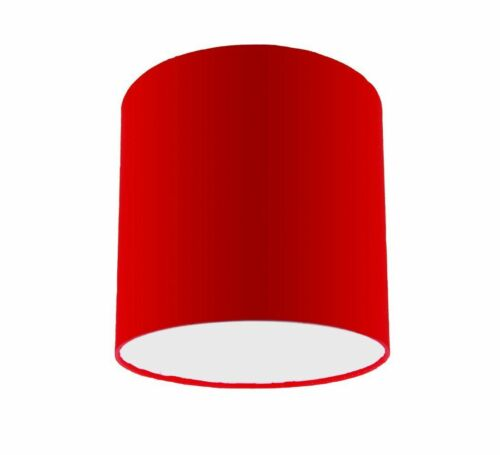 Red Cotton Drum Lampshade Ceiling Light Lightshade Pendant Lamp Shade Fitting