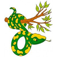Autocollant Stickers Branche Serpent Ref: Nw146