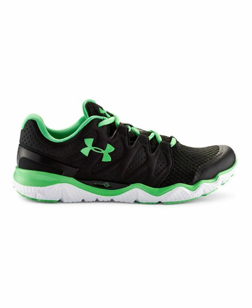 NEW IN BOX UNDER ARMOUR MEN'S MICRO G OPTIMUM -1265925 Schuhe -BLACK / GREEN -1265925 OPTIMUM 74f6a2