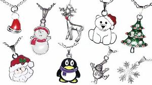 Christmas-Necklaces-Frozen-Snowflake-Tree-Rudolph-Santa-Snowman-Stocking-Filler