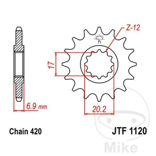 JT Front Sprocket 15T 420 Pitch JTF1120.15 Keeway TX 50 SM X-Ray 2008-2009