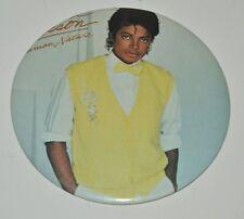"""Vintage Large 1983 MICHAEL JACKSON Concert Souvenir Button Pin Human Nature 6"""""""