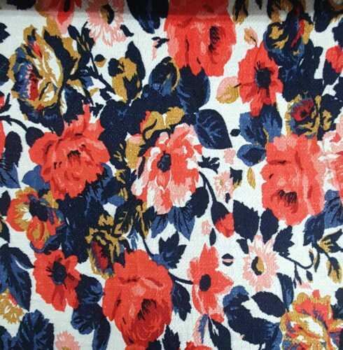 Floral Ponte Roma Knit  Dress fabric material Premium Fabric Premium Fabric