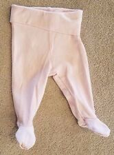 SWEET! BABY H&M 1-2 MONTH SOLID LIGHT PINK FOOTED PANTS
