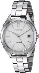 Citizen-Eco-Drive-LTR-Women-039-s-Silver-Tone-Bracelet-34mm-Watch-FE6140-54A