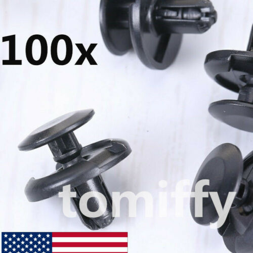 Pack 100 Bumper Fender MudGuard Clip For Toyota Camry Corolla Echo Sienna Avalon