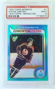 WAYNE-GRETZKY-1998-Topps-OPC-Chrome-Refractor-Blast-From-The-Past-PSA-9-Reprint