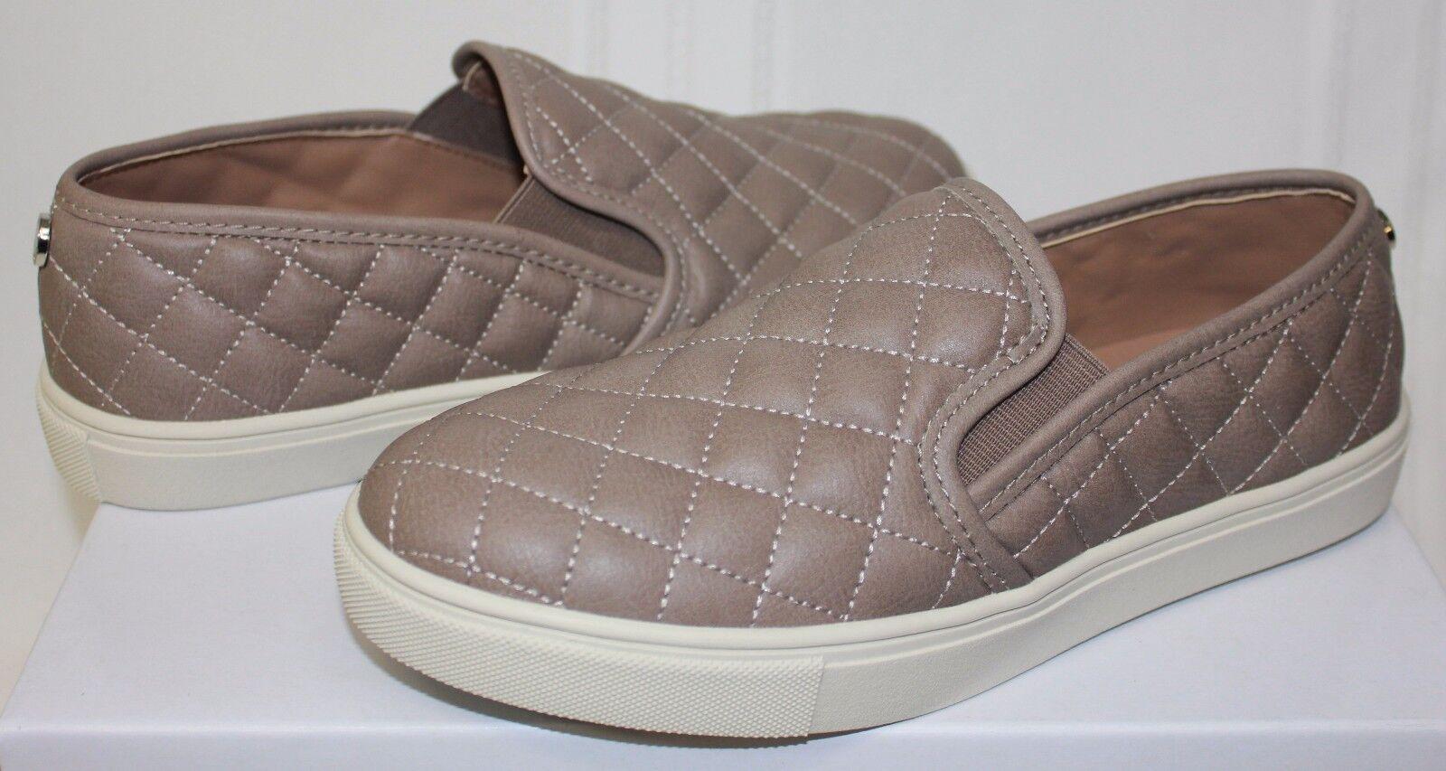 Steve Madden Ecntrcq Ecentric Slip On Sneaker schuhe Grau Quilted NEU