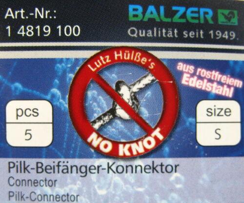 Pilk Beifänger Connector Wirbel Balzer knotenlos einfache Montage Inhalt 5 Stk
