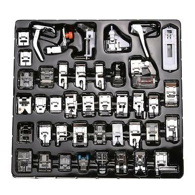 42Pcs/Set Domestic Sewing Machine Foot Feet Snap On Kit for Brother Singer Set