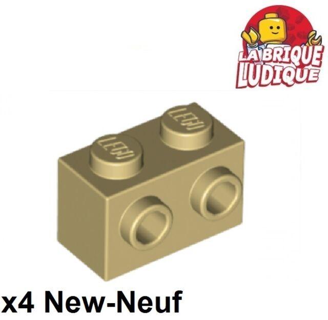 Set  of  6 Modified Bricks 1 x 2 with Pin LIGHT GRAY LEGO LEGOS