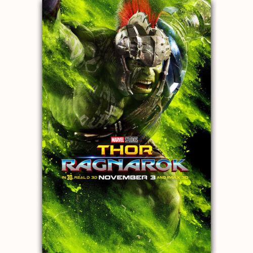 "Art Hot Thor Ragnarok Hulk Chris Hemsworth Silk Custom Poster 24x36/"" 27/"" P-342"