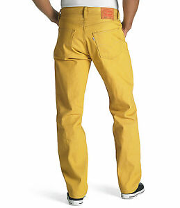 LEVIS 501 MENS ORIGINAL SHRINK-TO-FIT JEANS YELLOW #1474 NEW TAGS ...