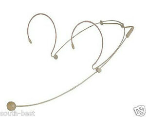 Dual-Ear-Headset-Microphone-For-Sennheiser-G1-G2-G3-Wireless-3-5mm-Lock-Screw