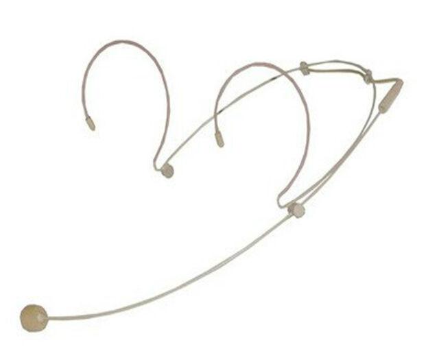 Dual Ear Headset Microphone For Sennheiser G1 G2 G3 Wireless - 3.5mm Lock Screw