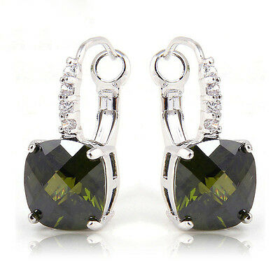 Best Selling Amethyst Morganite Multi-Color Gemstone Dangle Hook Silver Earrings
