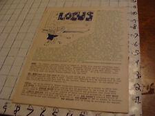 vintage Original SF Zine: LOCUS #83, 1971--Charlie & Dena Brown--8pgs