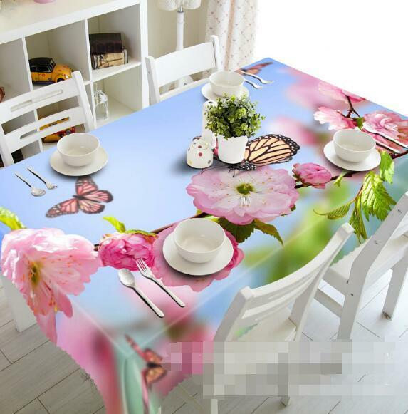 3D Flowers 62 Tablecloth Table Cover Cloth Birthday Party Event AJ WALLPAPER AU