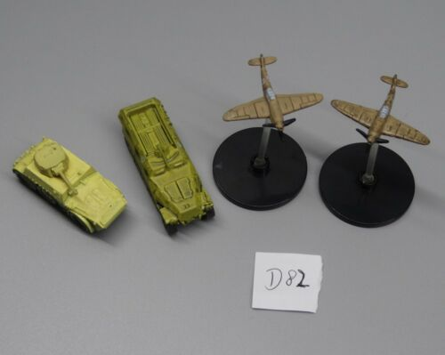 lot of 4 Axis/& Allies Wizards of the Coast tank North Africa Kubelwagen #JH7