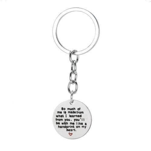 Fashion Keyring Keychain Jewelry Charm Heart Love Hero Crystal Daddy Father Gift