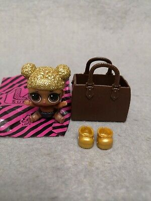 ORIGINAL Bag /& shoes for LOL Surprise Dolls Lil Sister Queen Bee RETIRED RARE