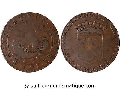 Jean Regnier Mayor Of Nantes Sieur Of The Souchais Token Copper 1674