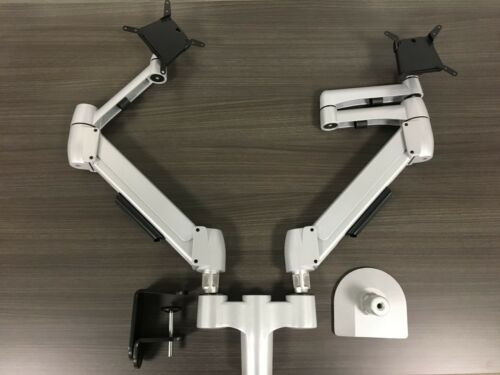 New Genuine SpaceCo SpaceArm Dual Monitor Arm SA02 custom with clamp