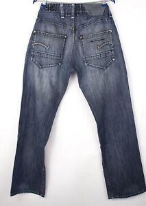 G-Star Brut Hommes Standard Jeans Jambe Droite Taille W34 L34 ARZ1016